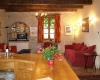holiday rental villa living room cahors france