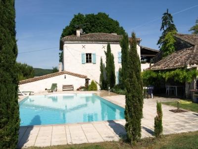 french villa pool